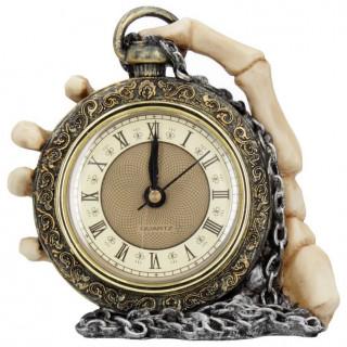 Pendule gothique style gousset à main squelette - Nemesis Now (14cm)
