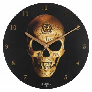 Pendule murale à crane Omega Skull - Alchemy
