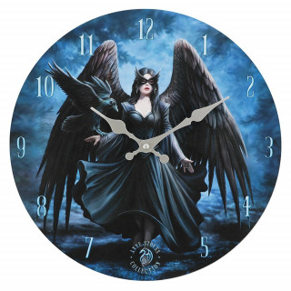 Pendule murale à femme corbeau - Anne Stokes