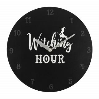 "Pendule murale noire à sorcière ""Witching Hour"" - Something Different"