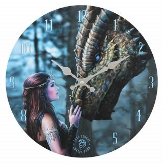 "Pendule murale à princesse et dragon ""Once Upon a Time"" - Anne Stokes"