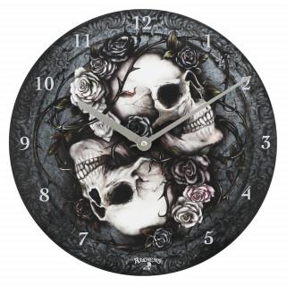 Pendule murale à valse des cranes et roses Dioscuri - Alchemy