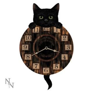 Pendule à petit chat noir (32cm) - Nemesis Now