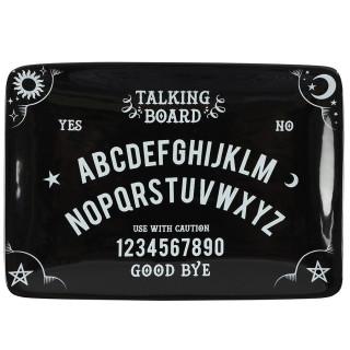 Petit plateau noir ouija Talking Board (vide poche, apéritif, cendrier)
