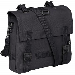 Petit sac canvas (musette) noir style militaire  - Brandit