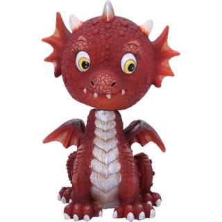 Petite Figurine dragon rouge style bobble head - Nemesis Now