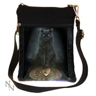 Petite sacoche bandoulière Lisa Parker avec chat noir et ouija