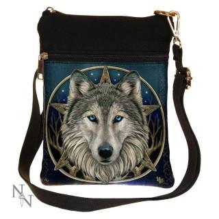 """Petite sacoche bandoulière à tête de loup """"Wild One"""" - Lisa Parker"""