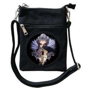 Petite sacoche à comptesse ténébreuse et corbeau  - Achemy