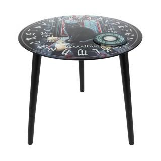 """Petite table de spiritisme Ouija à chat noir """"Sacred Circle"""" - Lisa Parker"""