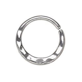 Piercing anneau aspect martelé (septum, cartilage...)