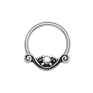 Piercing anneau CBR style antique septum / oreille