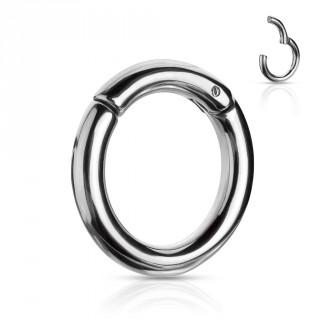 Piercing anneau écarteur inox à segment clips