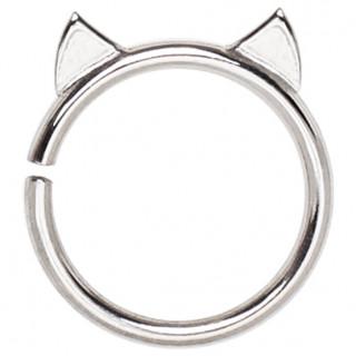 Piercing cartilage anneau à oreilles de chat
