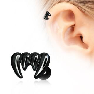 achat piercing cartilage h lix noir dents de vampire pas cher. Black Bedroom Furniture Sets. Home Design Ideas