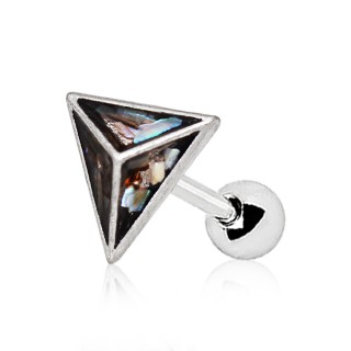Piercing cartilage pyramide d'abalone