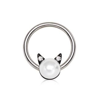 Piercing CBR à perle avec oreilles de chat