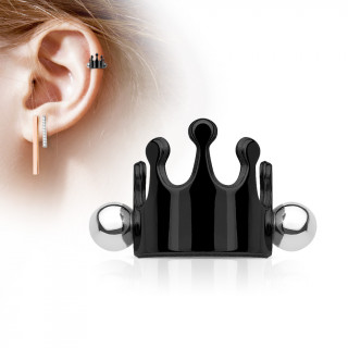 Piercing couronne hélix en acier noir
