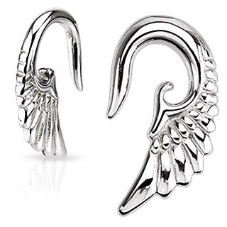 Piercing écarteur aile d'ange en acier