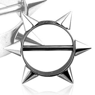 Piercing gothique téton anneau à pointes