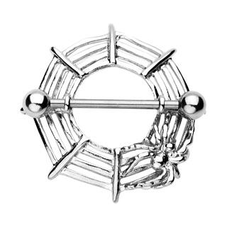 Piercing gothique téton araignée sur toile
