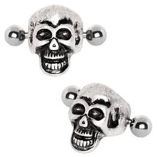 Piercing helix tête de mort