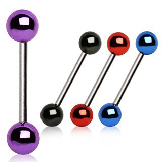 Piercing langues à boules acrylique plaquées style métallique