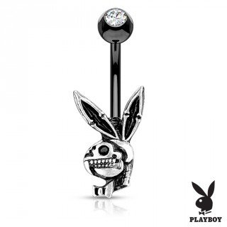 Piercing nombril lapin playboy squelette