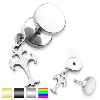 achat piercing oreille style faux plug pendentif croix celtique pas cher. Black Bedroom Furniture Sets. Home Design Ideas