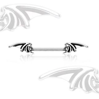 Piercing téton à ailes de chauve-souris