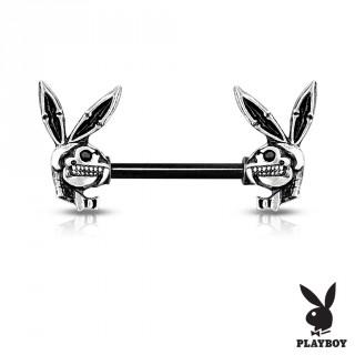 Piercing téton lapin playboy squelette