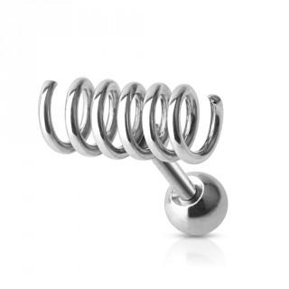 achat piercing tragus cartilage en forme de spirale style ressort pas cher. Black Bedroom Furniture Sets. Home Design Ideas