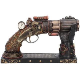Pistolet déco steampunk Nock's (22.5cm) - Nemesis Now