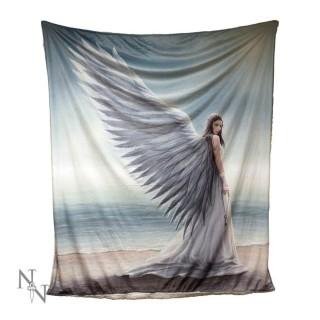 "Plaid 160cm à ange ""Spirit Guide"" - Anne Stokes"