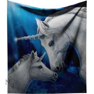 """Plaid 160cm à licornes """"Sacred Love"""" - Lisa Parker"""