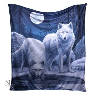 Plaid 160cm à loups au bord de la rivière - Lisa Parker