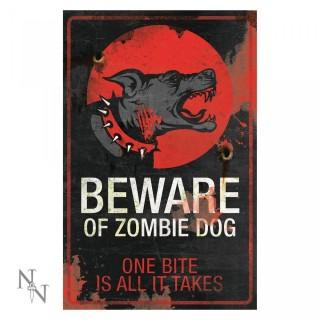 Plaque déco chien zombie - 43cm