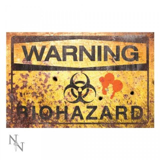 Plaque déco Warning Bio Hazard - 43cm