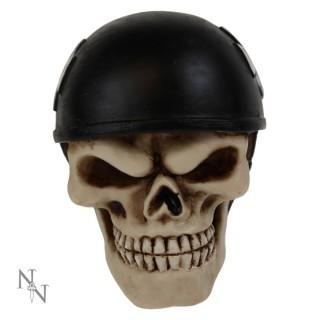 Pommeau levier de vitesse tête de mort à casque biker (8cm)