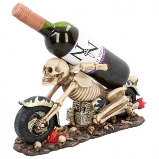 Porte-bouteille en forme de moto squelette (18,9cm)