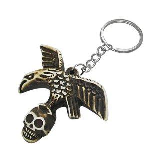 Porte-clés en os aigle et crane