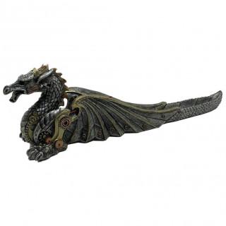 Porte-encens (pour bâtonnets) dragon mécanique steampunk - 33cm