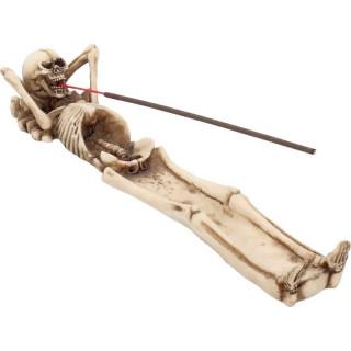 Porte encens squelette allongé détendu - Nemesis Now