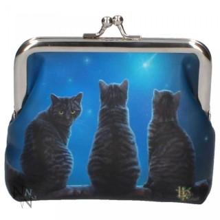 Porte-monnaie bourse à chats et étoile filante - Lisa Parker