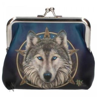 """Porte-monnaie bourse à tête de loup """"Wild One"""" - Lisa Parker"""
