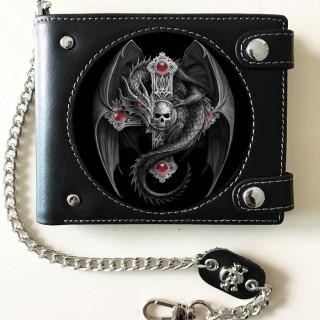 Portefeuille Effets 3D à dragon sur croix gothique - Anne Stokes