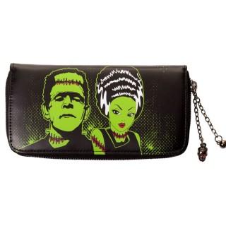 Portefeuille goth-rock Banned à imprimé Frankenstein et sa fiancée