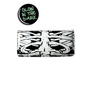 Portefeuille gothique Banned à motif cage thoracique phosphorescente