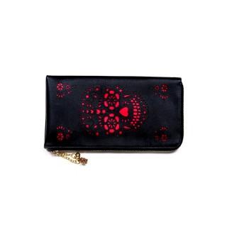 sélection premium acc16 821c2 Achat Portefeuille gothique Banned noir et rouge à crane de ...