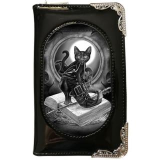 Portefeuilles long effets 3D à chat noir et grimoire - Alchemy